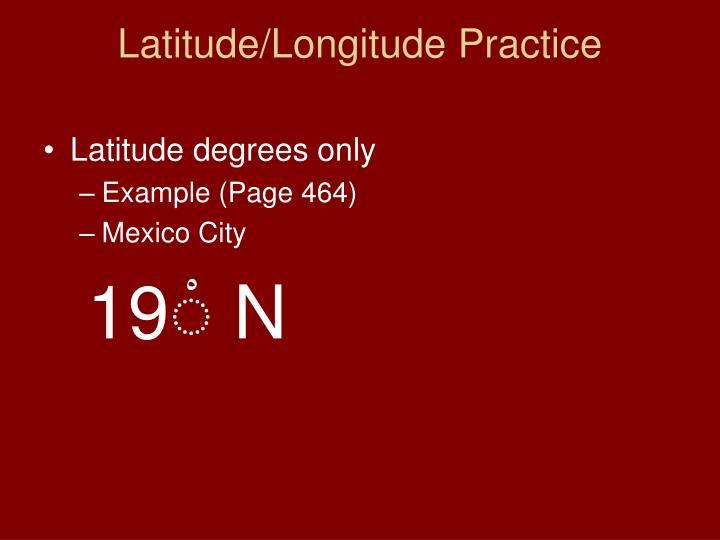 Latitude/Longitude Practice