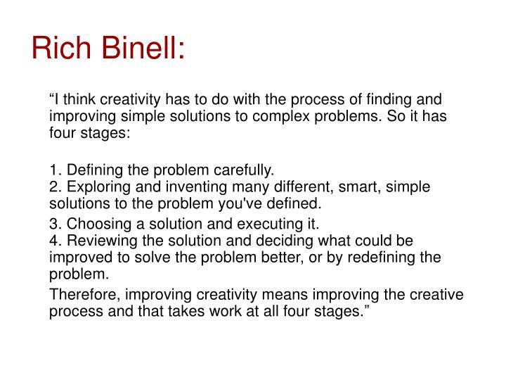 Rich Binell: