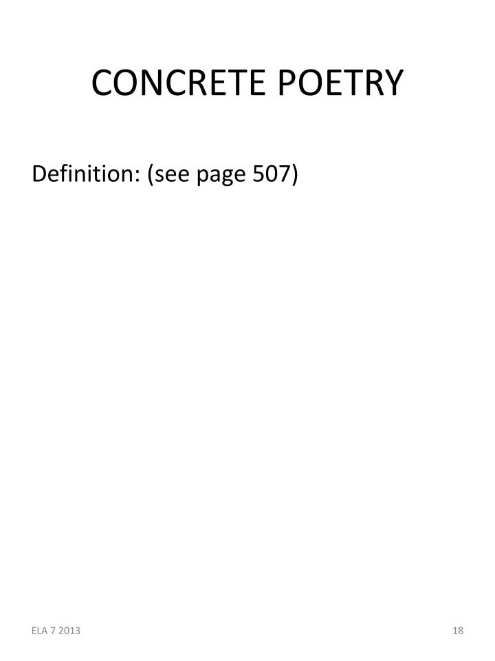 CONCRETE POETRY