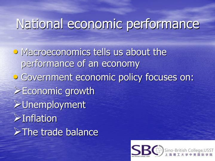 National economic performance