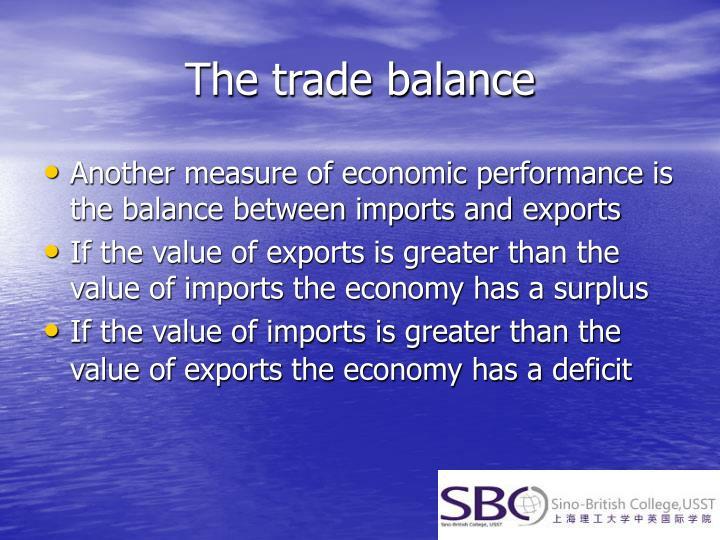 The trade balance