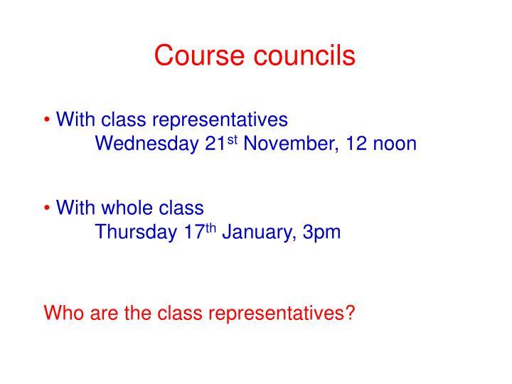 Course councils
