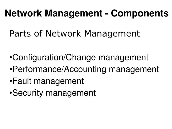 Network Management - Components