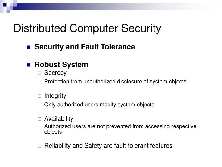 Distributed computer security1