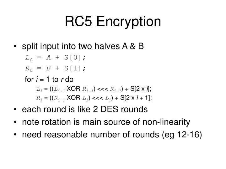 RC5 Encryption