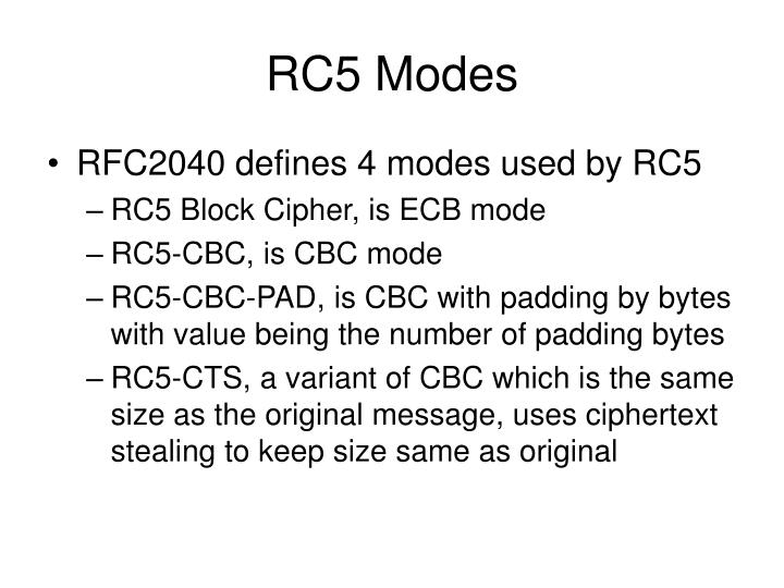 RC5 Modes