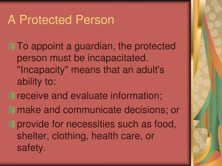 A Protected Person