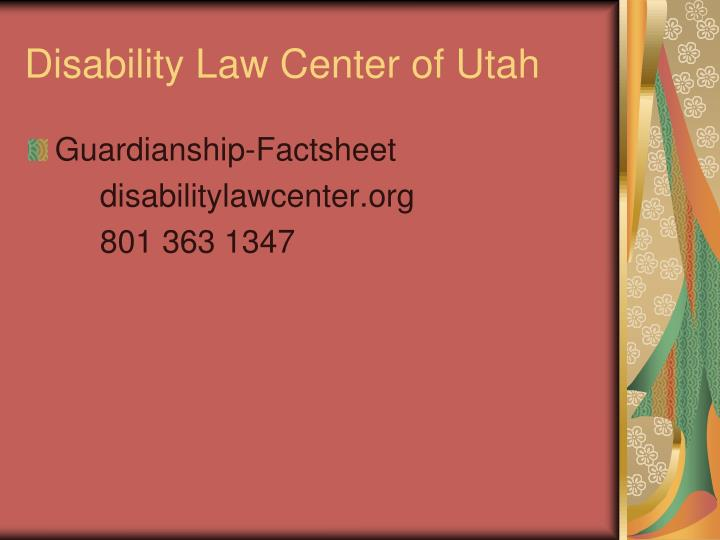 Disability Law Center of Utah