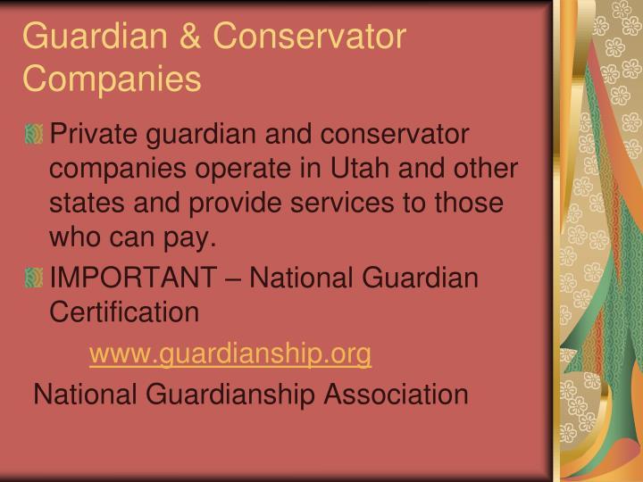 Guardian & Conservator Companies