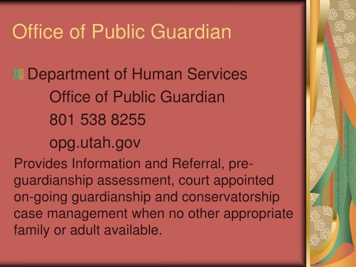 Office of Public Guardian