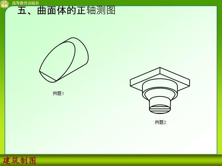 五、曲面体的正轴测图