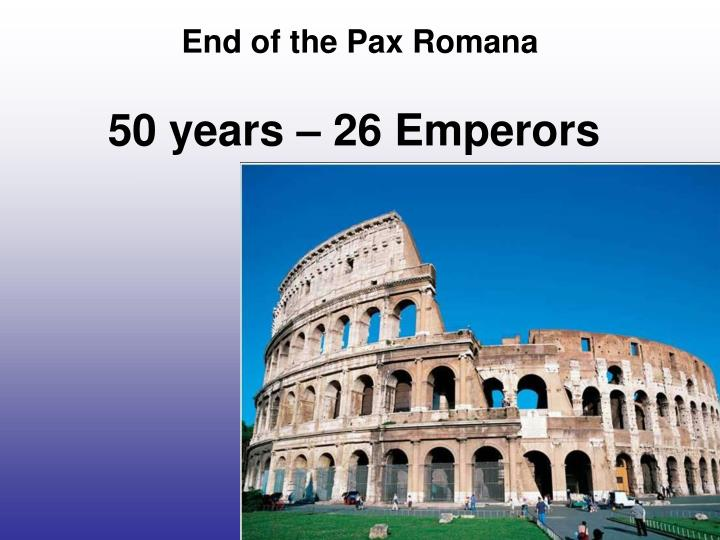 50 years 26 emperors