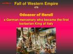 fall of western empire 476 odoacer of heruli