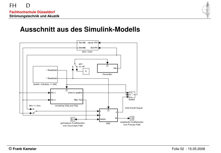 Ausschnitt aus des Simulink-Modells