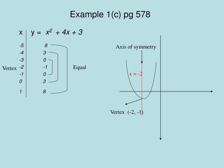 Example 1(c) pg 578