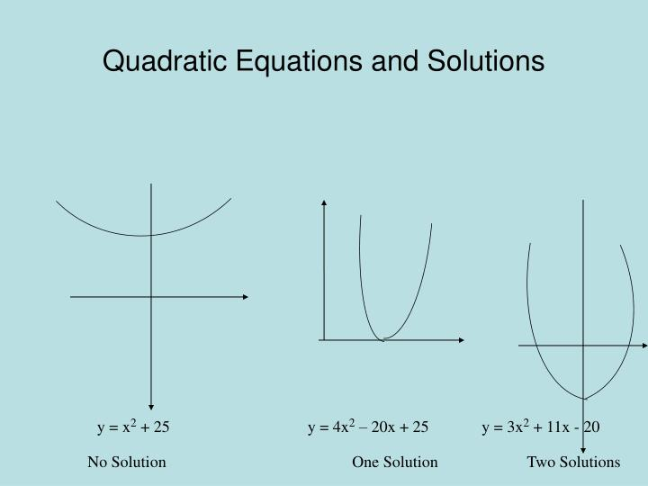 Quadratic Equations and Solutions