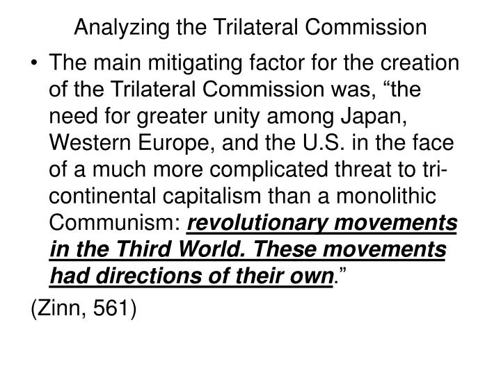 Analyzing the Trilateral Commission