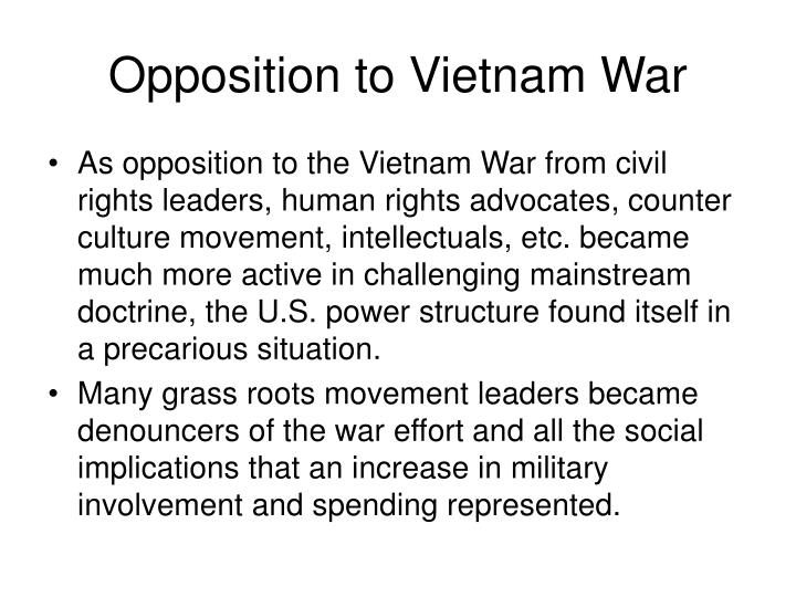 Opposition to vietnam war