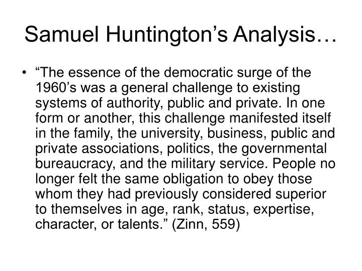 Samuel Huntington's Analysis…