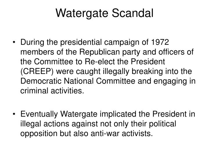 Watergate Scandal