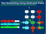 test scheduling using dedicated paths12