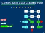 test scheduling using dedicated paths3