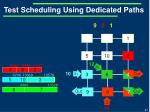 test scheduling using dedicated paths9