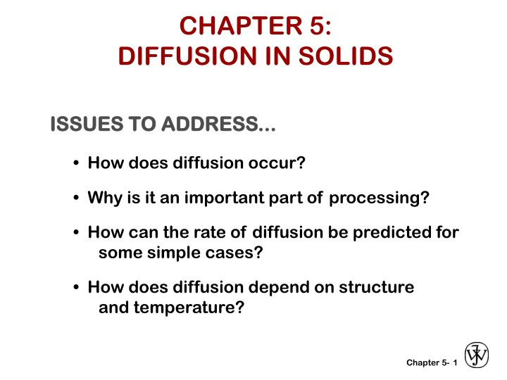 chapter 5 diffusion in solids