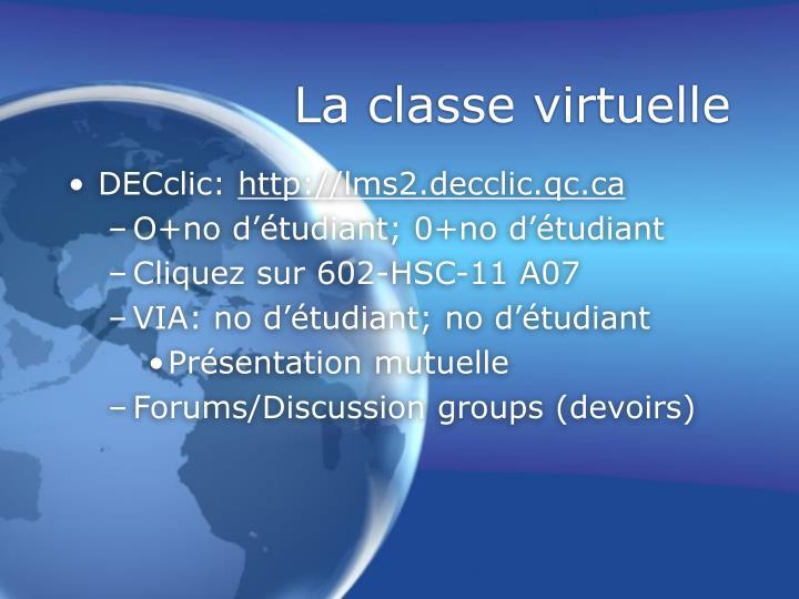 La classe virtuelle