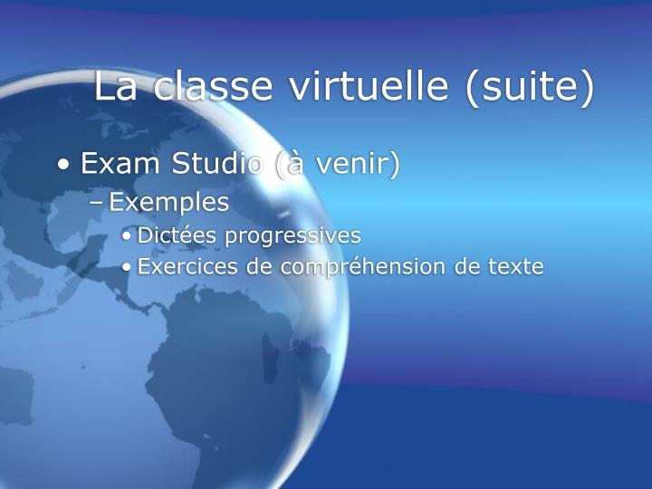 La classe virtuelle (suite)