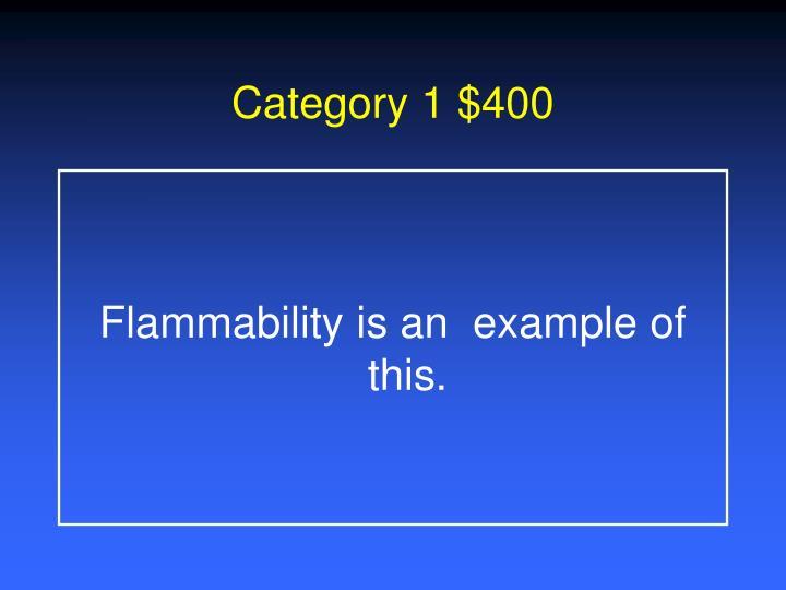 Category 1 $400