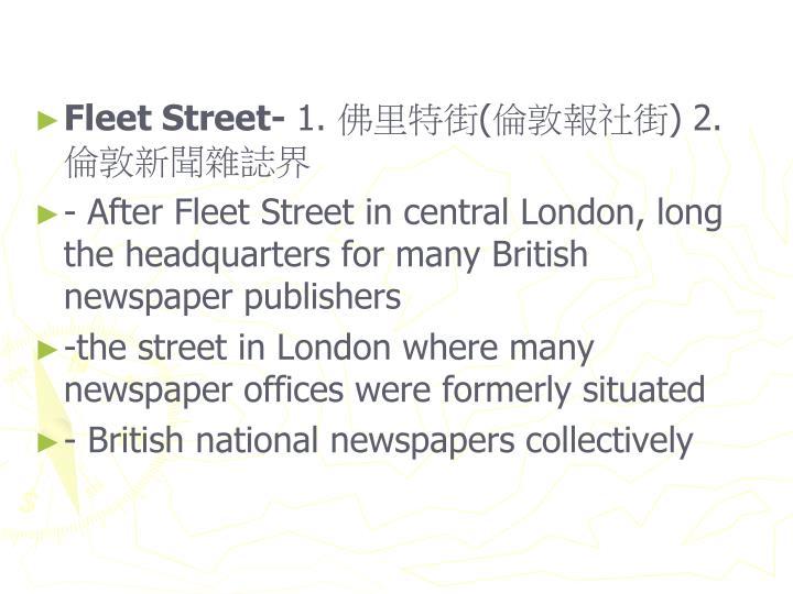 Fleet Street-