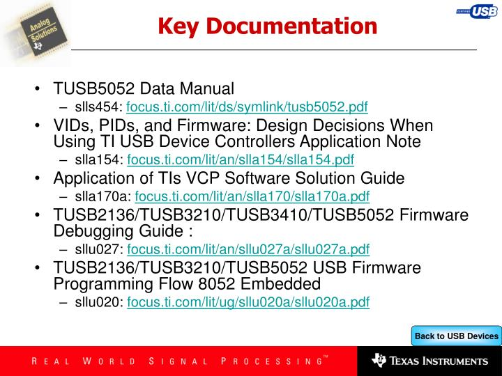 Key Documentation