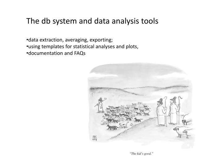 The db system and data