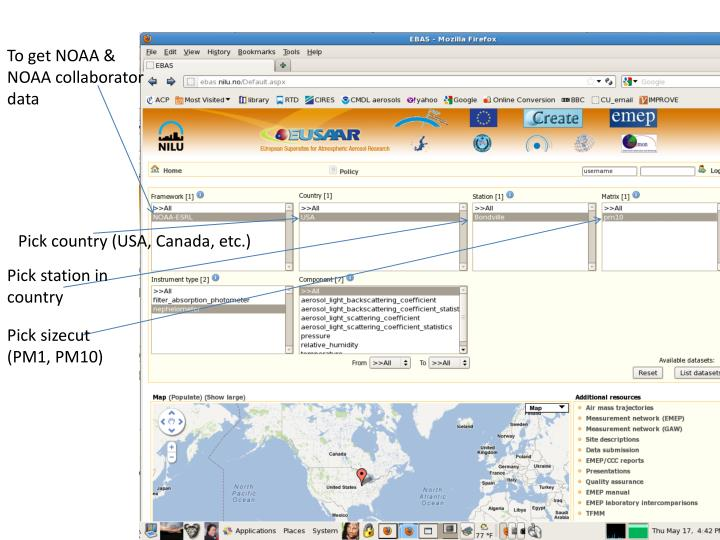 To get NOAA & NOAA collaborator data