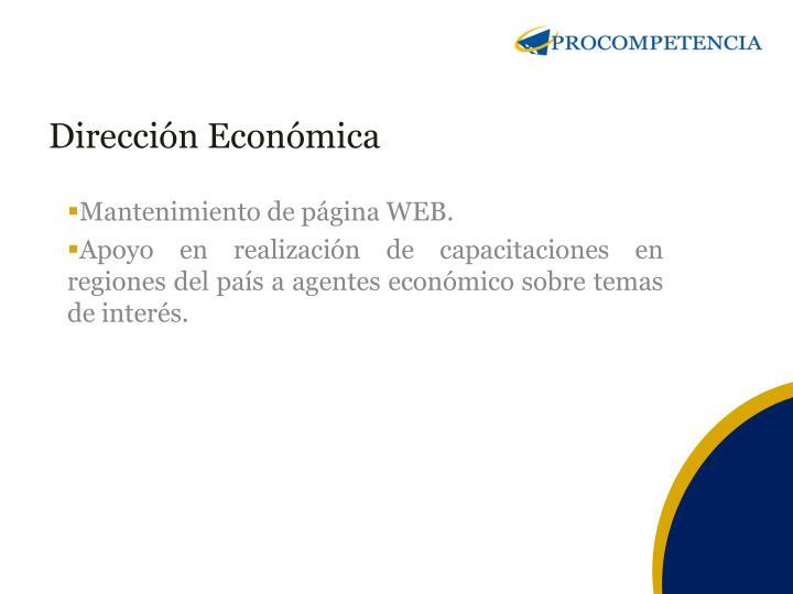 Dirección Económica