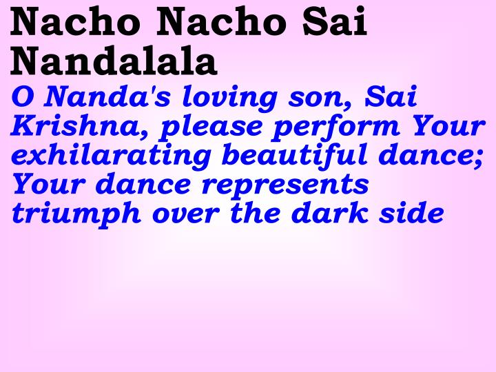 Nacho Nacho Sai Nandalala