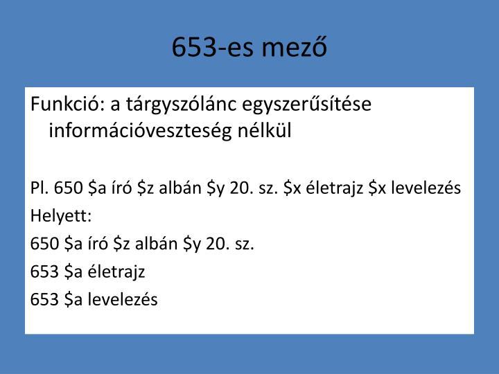 653-es mező