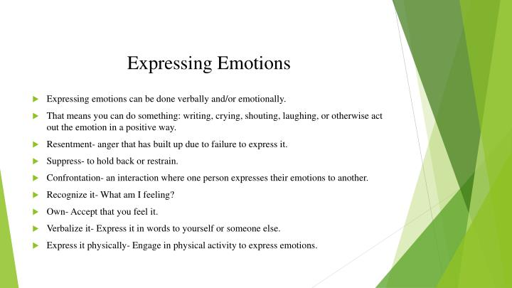 Expressing Emotions