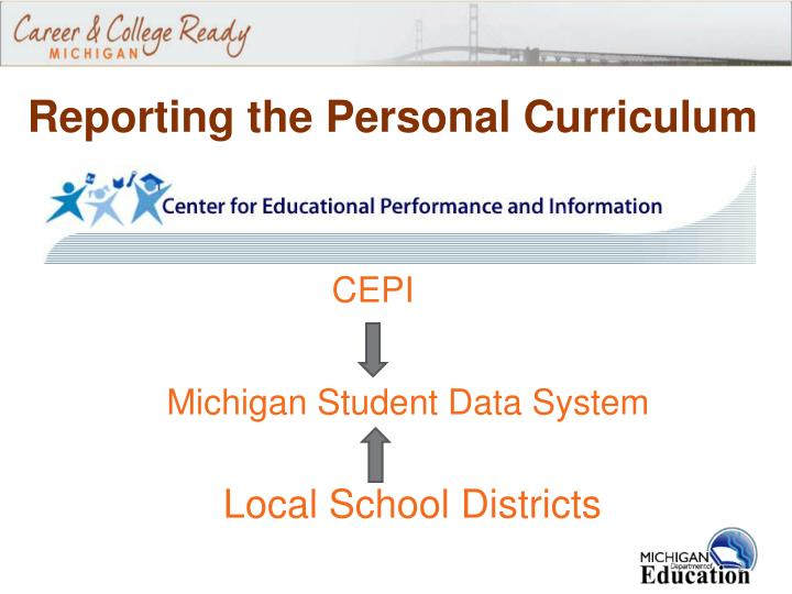 Reporting the Personal Curriculum