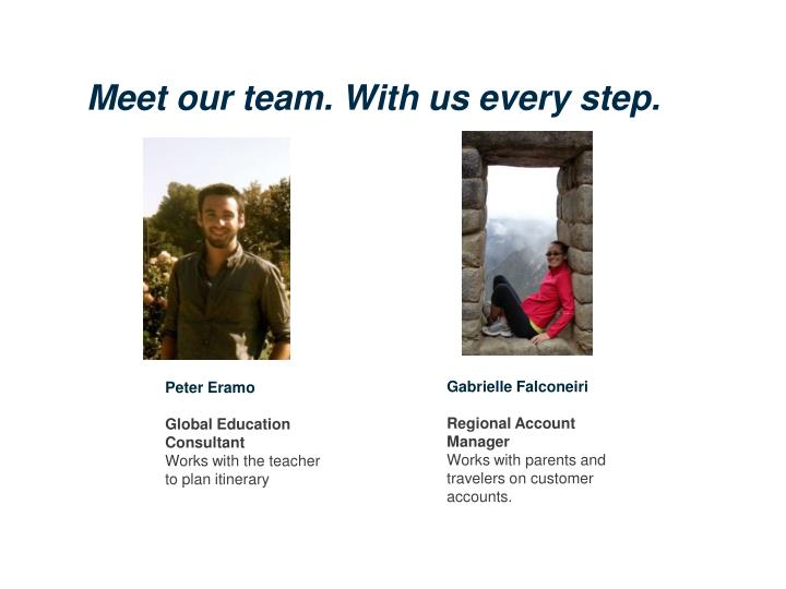 Meet our team. With us every step.