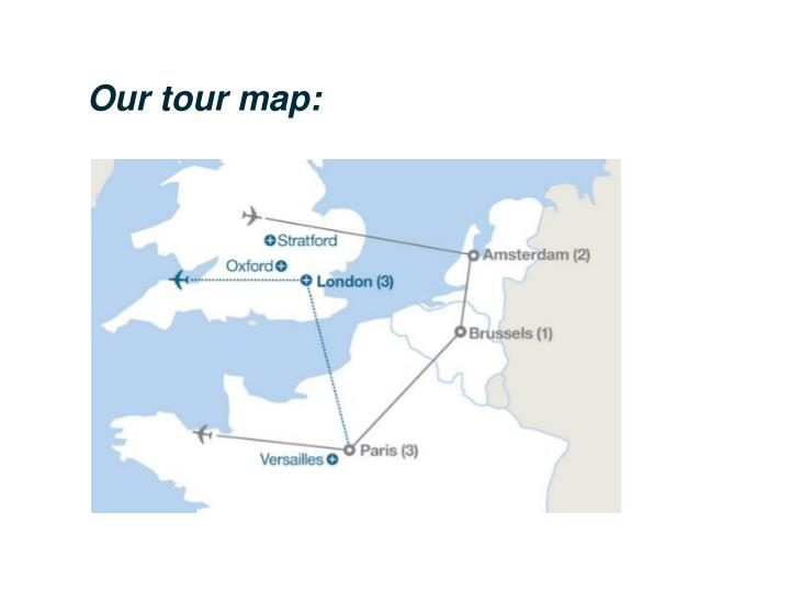 Our tour map: