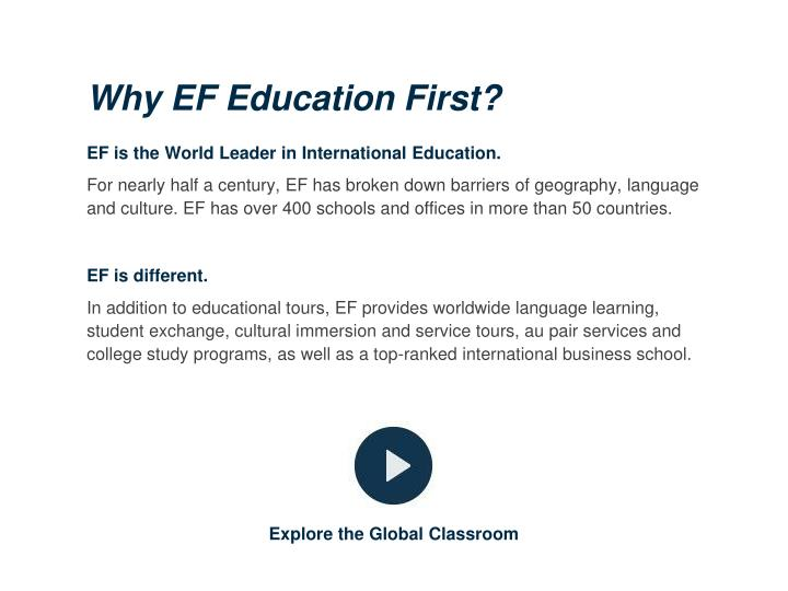 Why EF Education First?