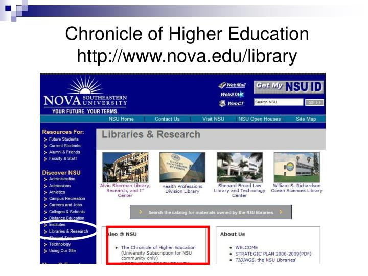 Chronicle of Higher Education