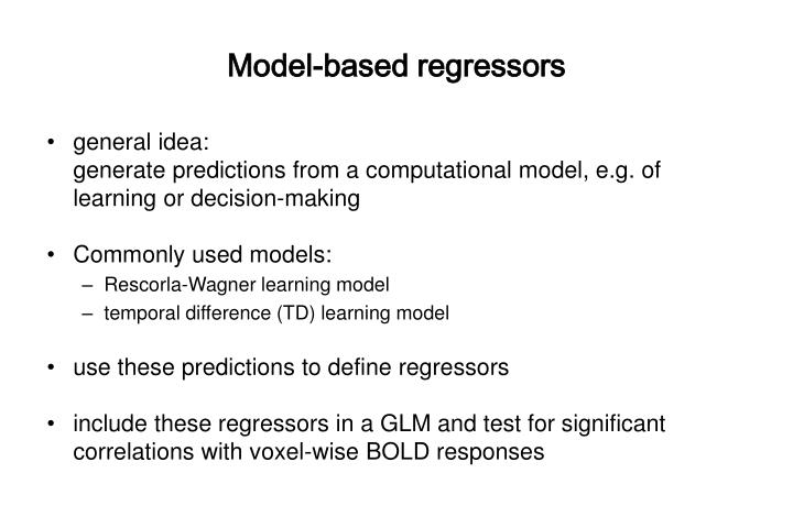 Model-based regressors