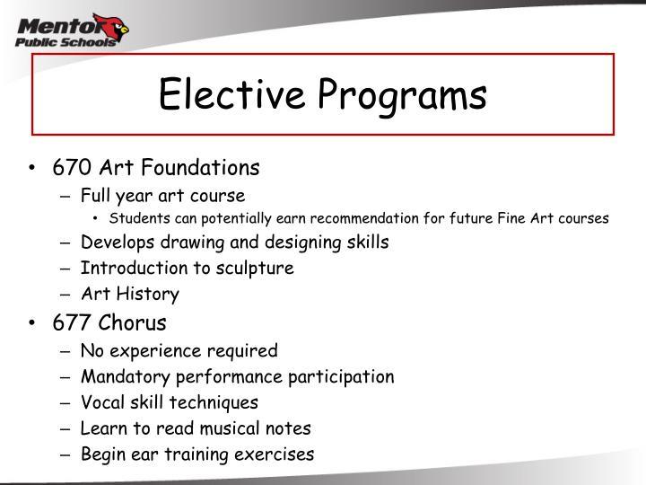Elective Programs