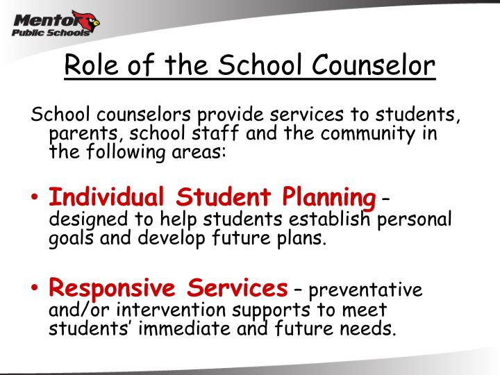 Role of the School Counselor