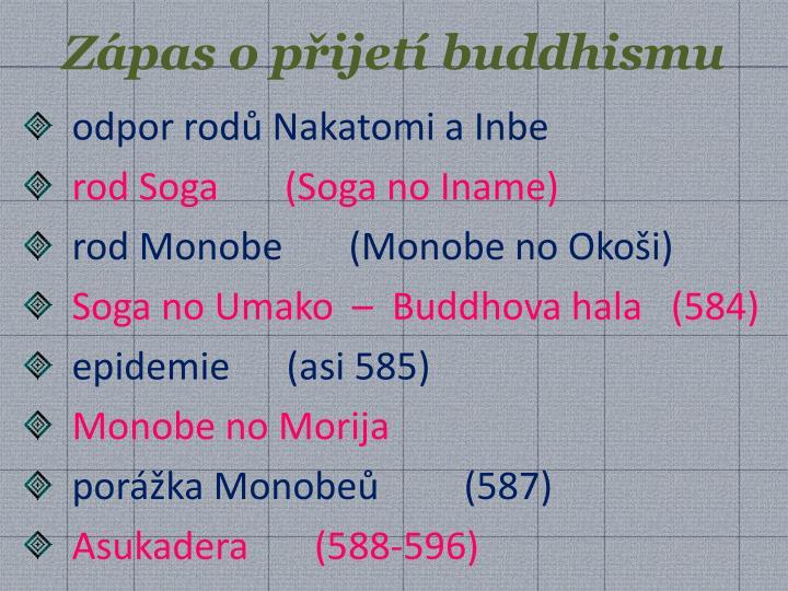 Zápas o přijetí buddhismu