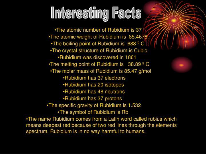 PPT - Rubidium PowerPoint Presentation - ID:6558214