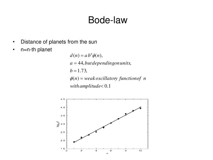 Bode-law
